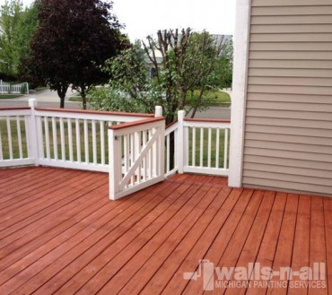 MI Deck Refinishing After