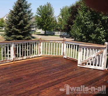 Michigan Deck Refinishing Before